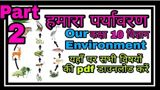 हमारा पर्यावरण कक्षा 10 विज्ञान  Our Environment Class 10 Science Support Material Part 2