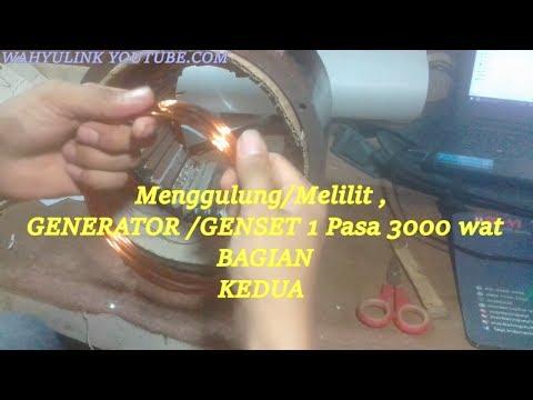 BAGIAN  KEDUA Menggulung/Melilit ,  GENERATOR /GENSET 1 Pasa 3000 wat