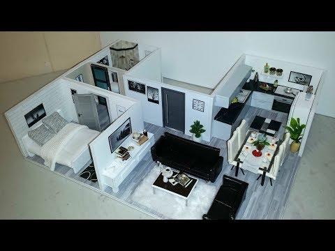 DIY Miniature Modern Dollhouse Apartment #4