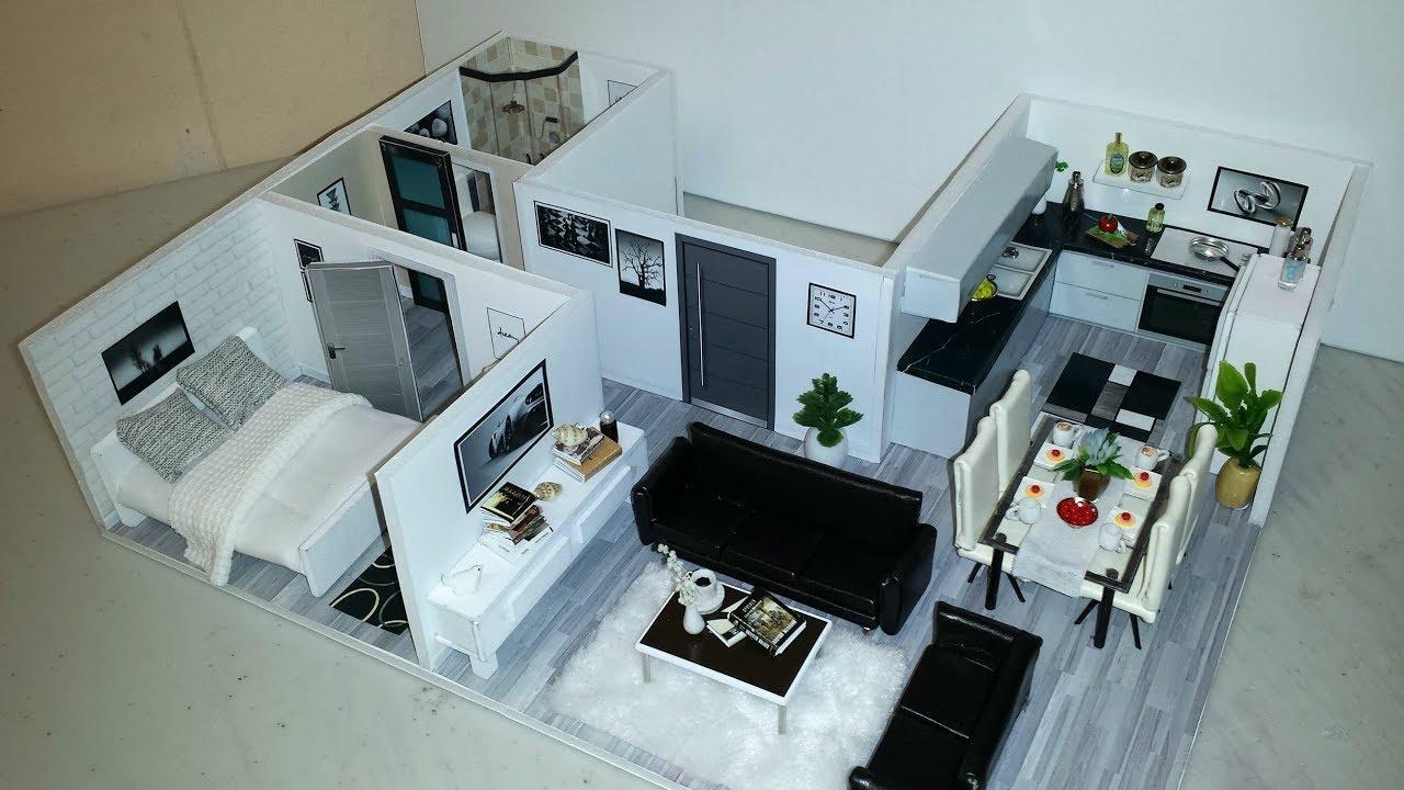 Diy miniature modern dollhouse apartment 4