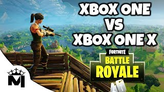 Xbox One Vs Xbox One X - Fortnite Battle Royale