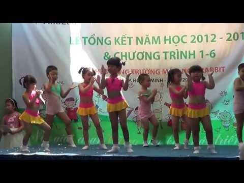 Aerobic lop choi truong mam non Rabbit 2013