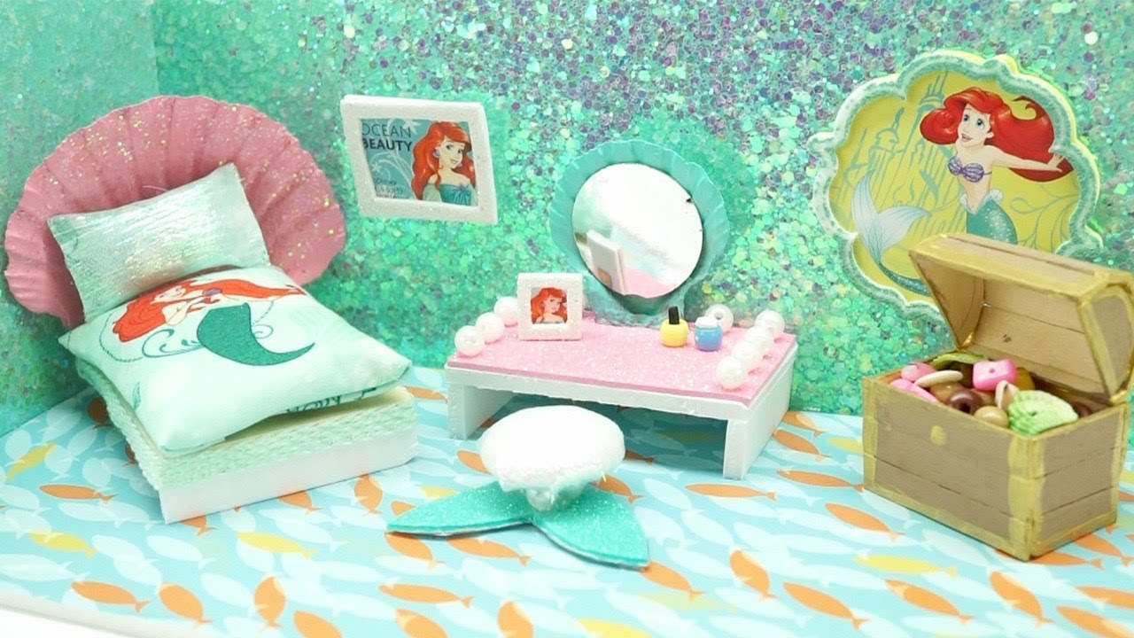 Merveilleux DIY Miniature Dollhouse   DISNEY LITTLE MERMAID PRINCESS ARIEL Bedroom (NOT  A KIT!)