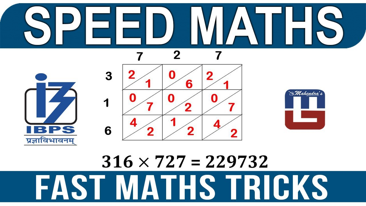 FAST MATHS TRICK | SPEED MATHS | ALL COMPETITIVE EXAMS - YouTube