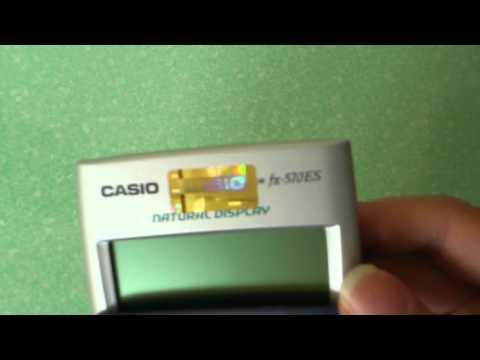 Trên tay máy tính bỏ túi Casio Fx-570ES =))