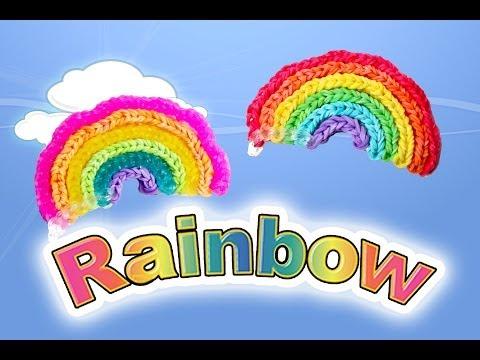 Rainbow Loom Rainbow, Coaster, 3D Umbrella Tutorial - One Loom