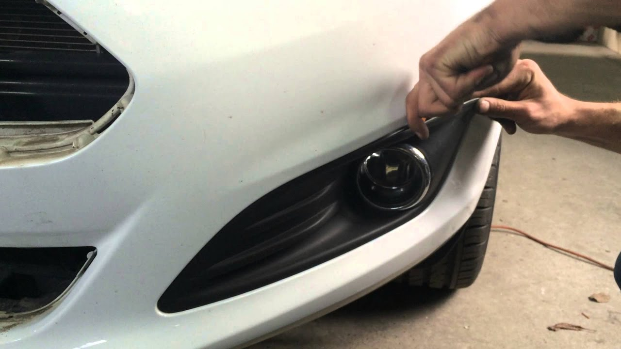 Ford Fiesta Mk7 Lift Fog Lamp Cover Removing Форд