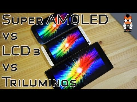 Super AMOLED vs LCD 3 vs Triluminos Indoor & Outdoor Display Comparison