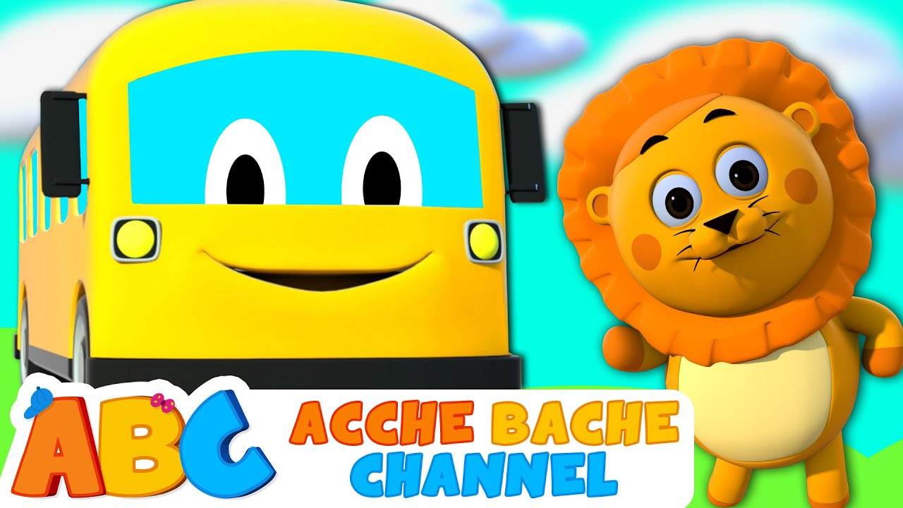 The Wheels on the Bus song + Hindi Nursery Rhymes songs by Acche Bache Channel