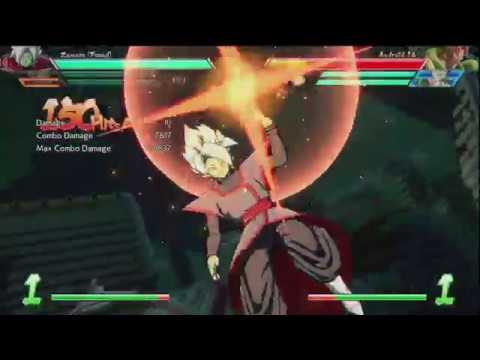 DBFZ: Zamasu (Fused) 217 hits combo (9743 damage)