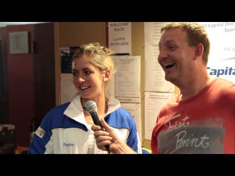 Capital One Celebrity Bonspiel - Peter Steski Interviews Eve Muirhead