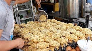 Thai Street Food - SEAFOOD GRAVY NOODLES & SHRIMP FRIED RICE Bangkok Thailand