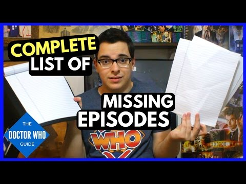 Doctor Who Missing Episodes - List of Missing Doctor Who Episodes