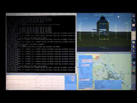 My UAV control software flying FlightGear