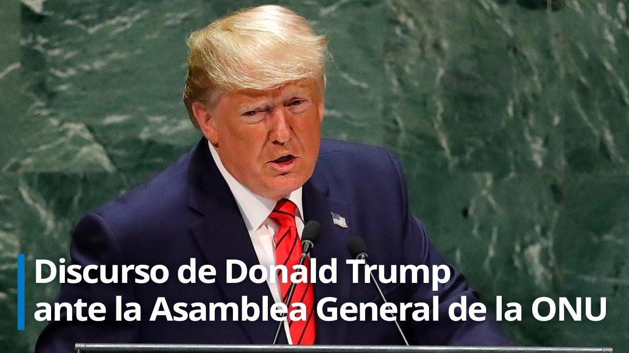 Discurso de Donald Trump en la 75ª sesión de la Asamblea General de la ONU
