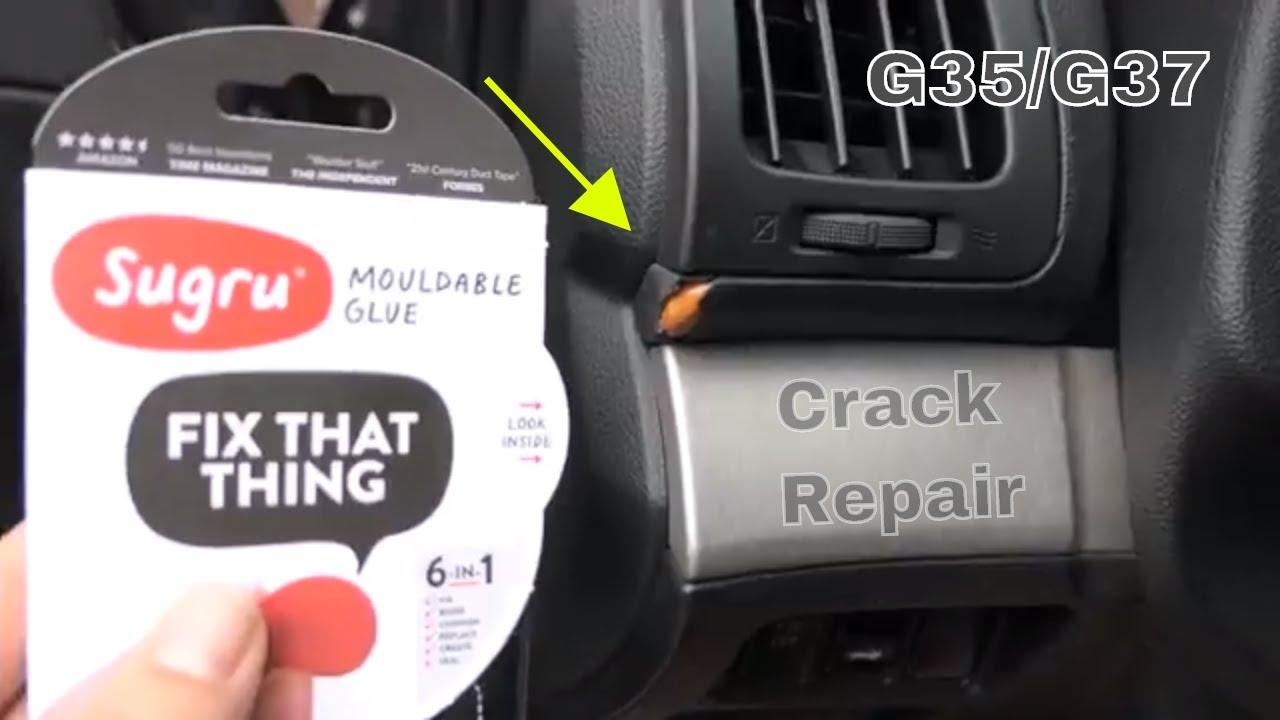 Cracked Dashboard Repair with Sugru - Infiniti G35 G37