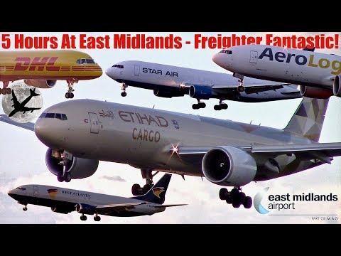 East Midlands Cargo Spectacular | DHL, Etihad, UPS, West Atlantic, Aerologic, Icelandair, Star Air