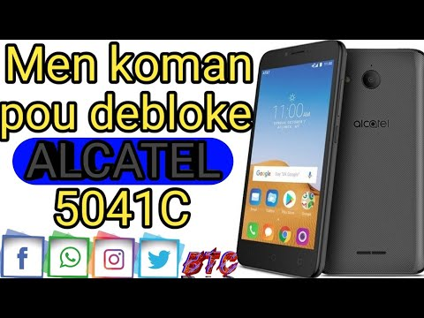 unlock alcatel 5041C