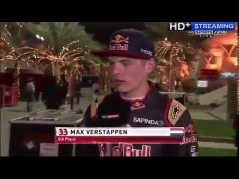 F1 2016 Bahrain - Max Verstappen - Post Race - Overtakes