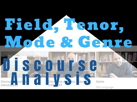 Class 4: Field, Tenor And Mode And Its