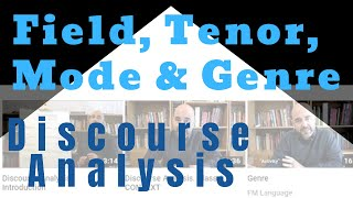"""Class 4: Field, Tenor and Mode and its """"dialogue"""" with Genre"""