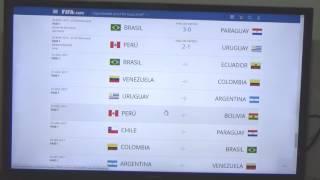 TABLA DE POSICIONES ELIMINATORIAS SUDAMÉRICA 2017