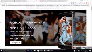 AutoBuy Script Trick To Buy Nokia 6 Flash Sale on Amazon