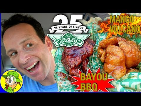 Wingstop® | Bayou BBQ ♨️ Mango Volcano 🌋 Review | Peep THIS Out! 🛩️