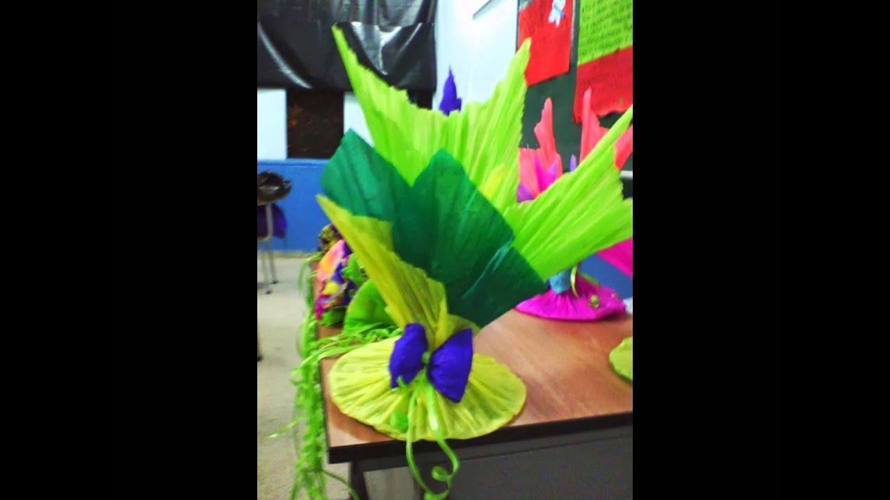 Decoracion con globos y papel youtube for Decoracion navidena con papel