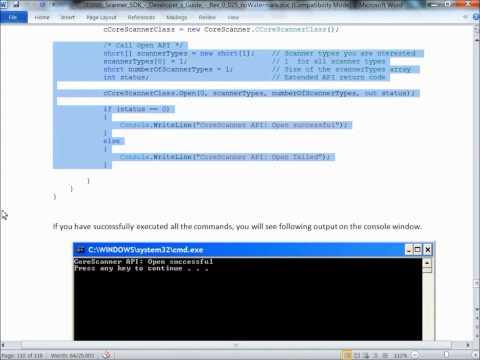 Zebra Scanner SDK for Windows Desktop: Programming Basics