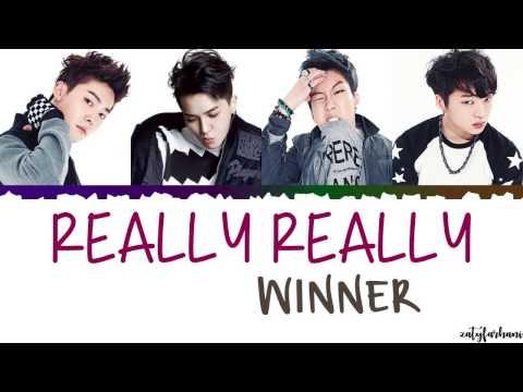 WINNER 위너 - REALLY REALLY   Color CodedHanRomEng