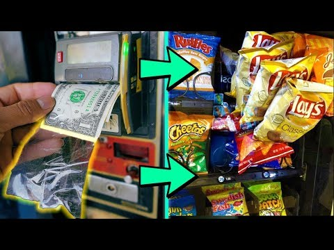 Does TAPE On A Dollar Hack ACTUALLY Work In A Vending Machine??