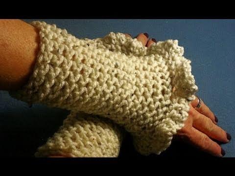 How To Crochet Ruffled Wrist Warmers Day 33 Youtube