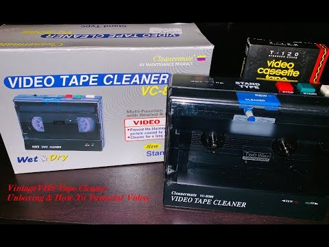 Vintage Cleanermate VHS Tape Cleaner From The 90's: Unboxing & Tutorial Video.