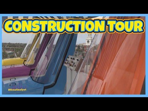 Soak City Construction Tour With NEW Slide Testing (HD) Knotts Soak City