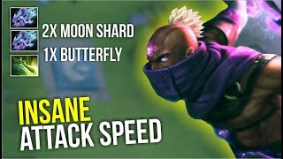 INSANE ATTACK SPEED - Anti Mage 2x Moon Shard + Butterly by Ar1se | Dota 2