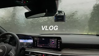 VLOG | 초보운전 | 폭우, 우박 | 빗길운전 | …