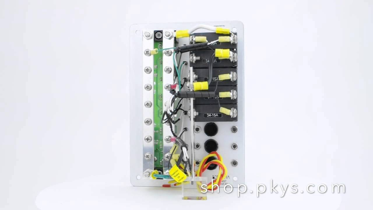 blue sea systems 8027 ac circuit breaker panel youtube rh youtube com ac breaker panel wiring