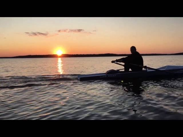 Rowing and camping in Finland