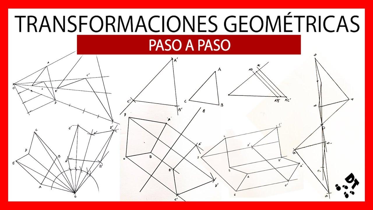 Todas las transformaciones 👍🏼 Traslación 👍🏼 simetría axial 👍🏼 simetría radial 👍🏼 giro 👍🏼 homotecia