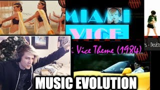 xQc Reacts to Evolution of Electronic Music - 1955 to 2017 (V2) | with Chat!