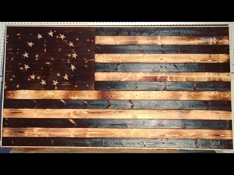 DIY Wood-Burned American Flag | Modern Builds | EP.18