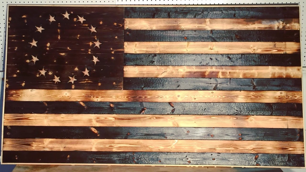 Diy Wood Burned American Flag Modern Builds Ep 17