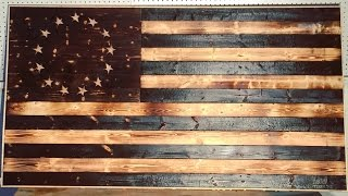 DIY Wood-Burned American Flag | Modern Builds | EP. 17