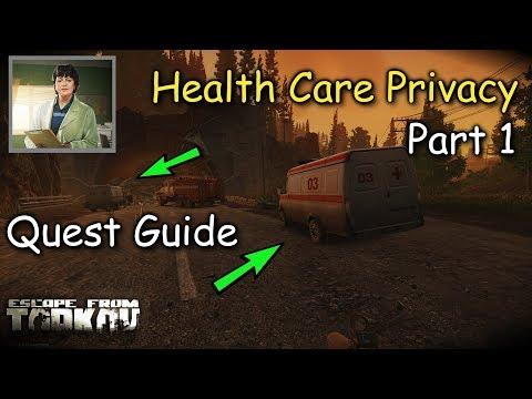Health Care Privacy Part 1 Therapist Quest Guide Escape From Tarkov