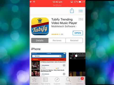 GET TUBIFY FROM THE APPSTORE (IOS 9-10) 2017!