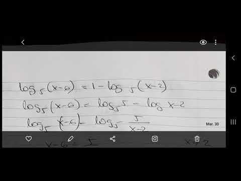 Equation with Logarithms