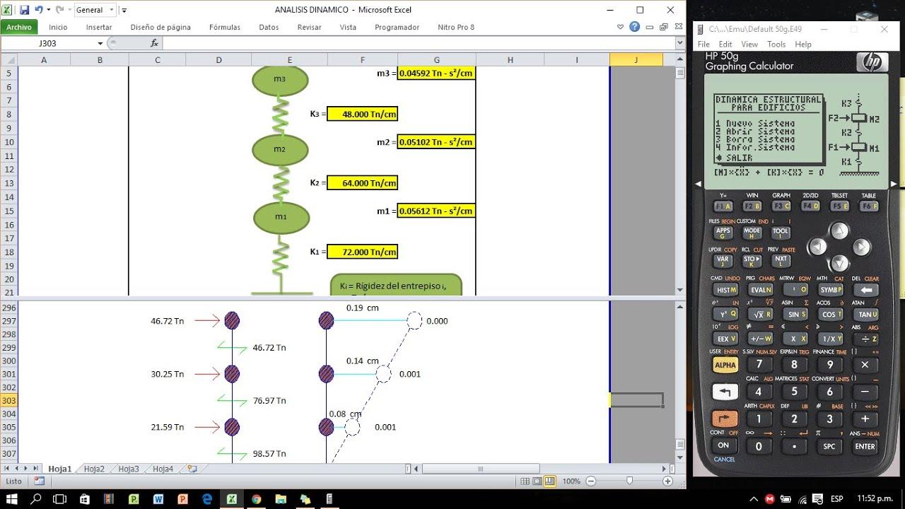 Análisis Dinámico Modal-Espectral (DIES HP50g) - YouTube