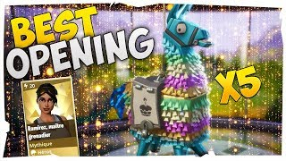 OPENING LAMA PLERHIC - ANNIVERSAIRE! Fortnite Saving the World