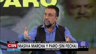 C5N - El Diario: Análisis de la marcha de la CGT Roberto Navarro y Victor Hugo